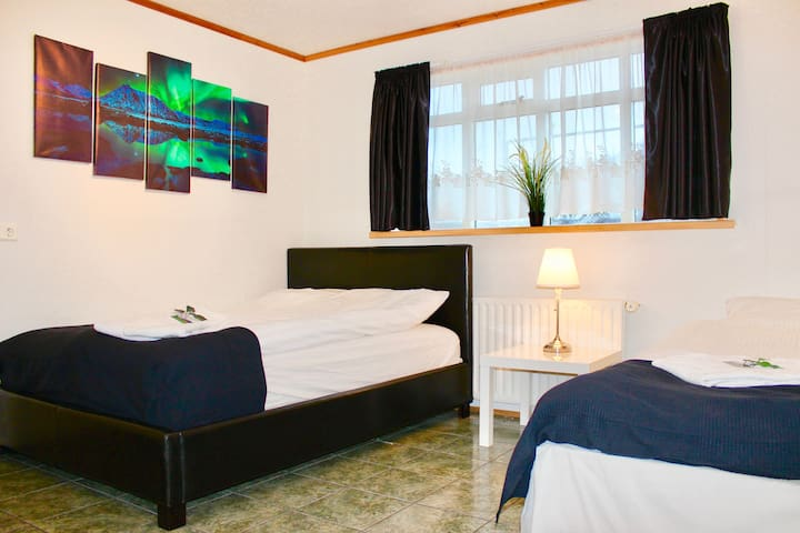 Nicely decorated rooms to get that Iceland touch.