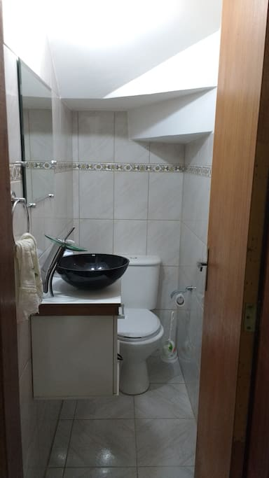 lavabo no primeiro andar