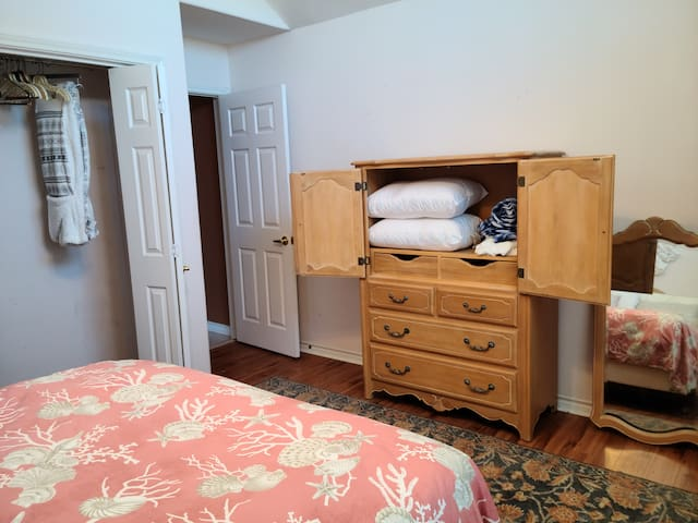 Extra linens. If you need any toiletries, additional linens, etc., tell Joy.
