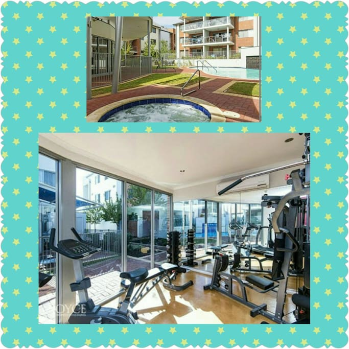 gym and jacuzzi