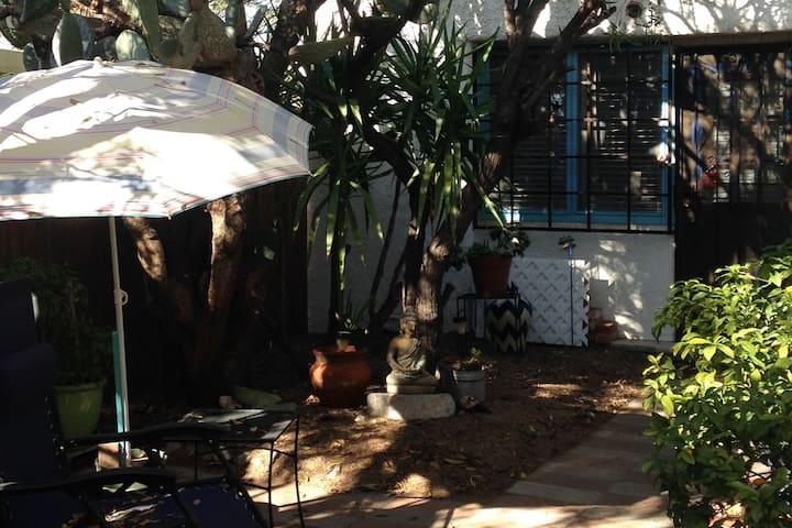 Casa Jardin:   Private Mid-Town Adobe Casita