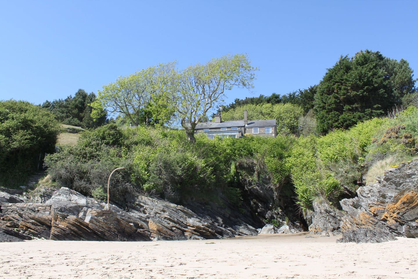 View of Rose Cottage from the Beach