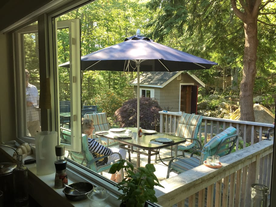 Back Deck from Kitchen