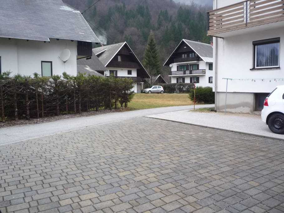 courtyard for caravan or car