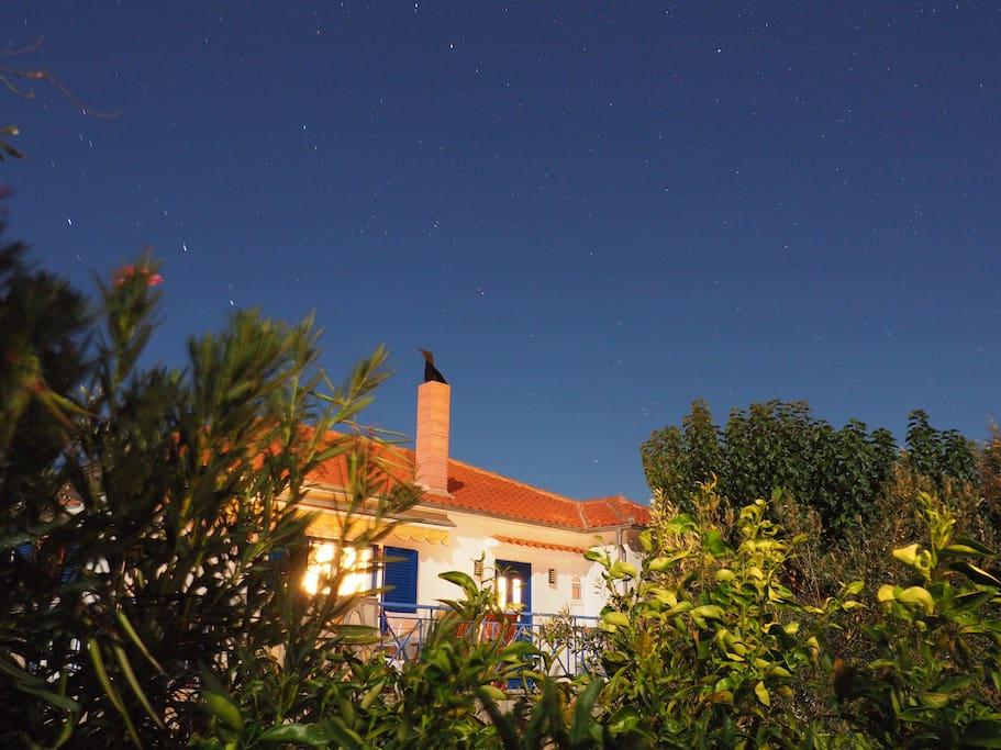 Haus in der Abenddämmerung
