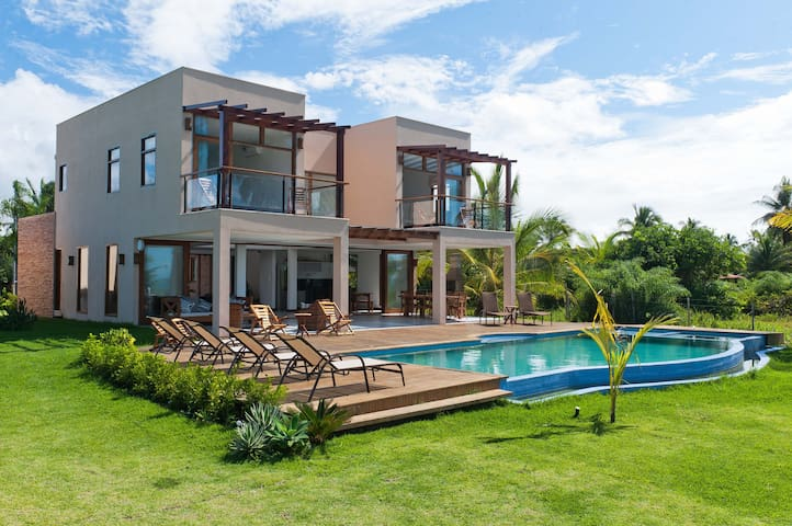 Luxury beachfront house with pool - Barra Grande - Casa