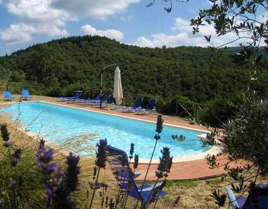 La piscina del Borgo a due passi dal giardino privato di Casa Eolo
