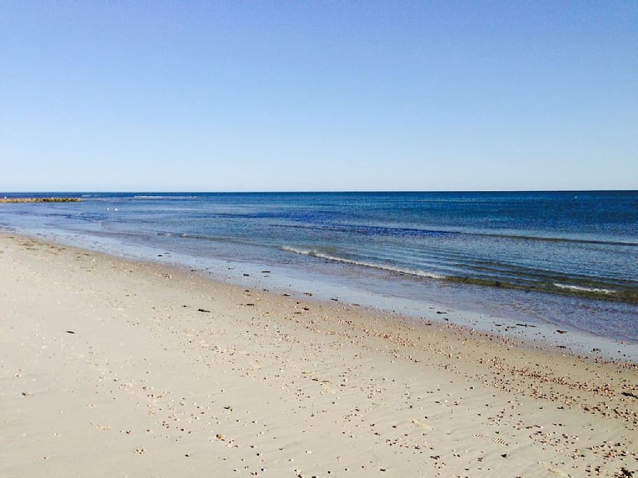 South Village Beach -  just a short 7 minute walk from the house!