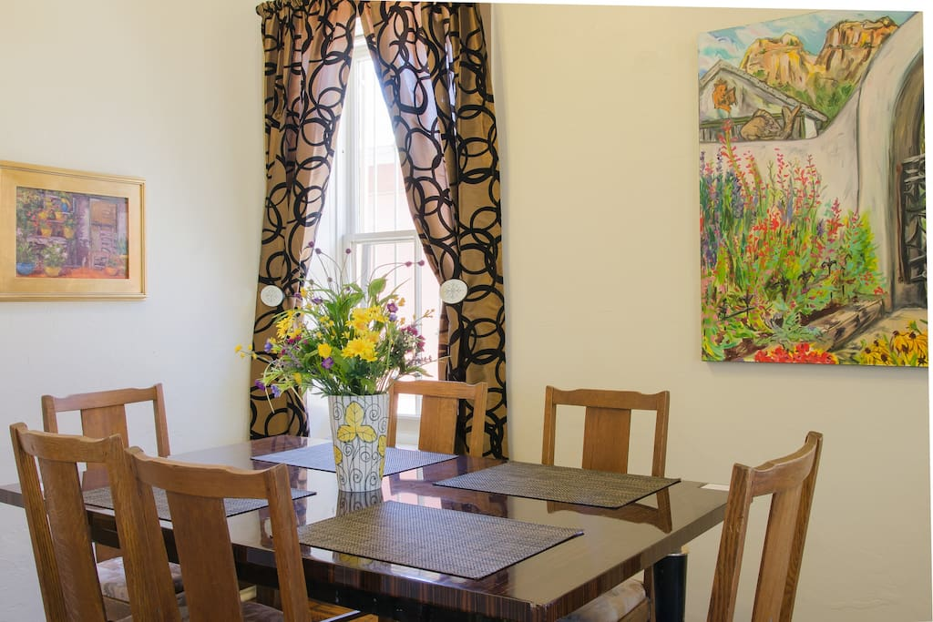 Dining area of great room.