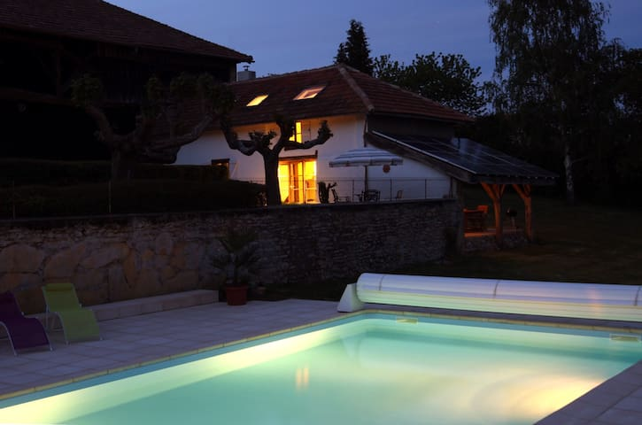 Pyrenean idyll panoramic mountain views pool - Loudet - Haus