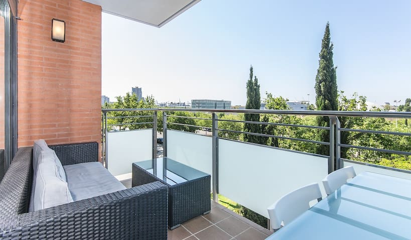 Oceanographic with a terrace - Valencia - Apartment