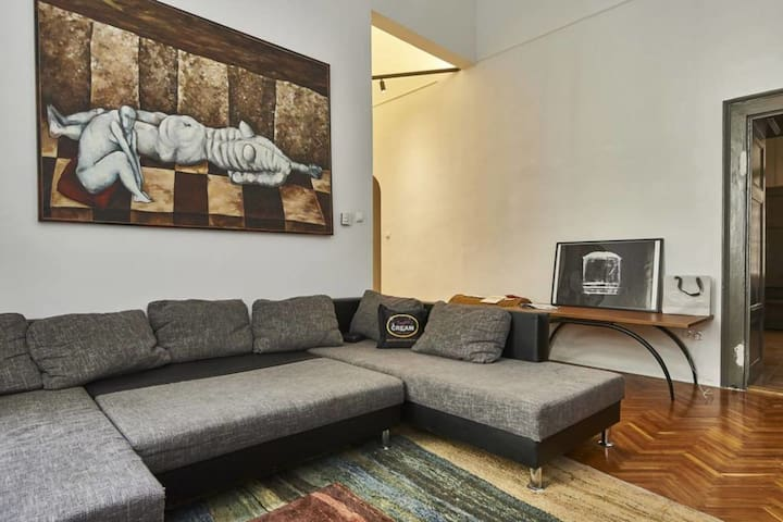 Spacious apt in middle of downtown - Budapest - Apartment