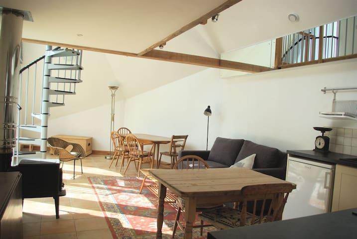 Sitting area with wood burner