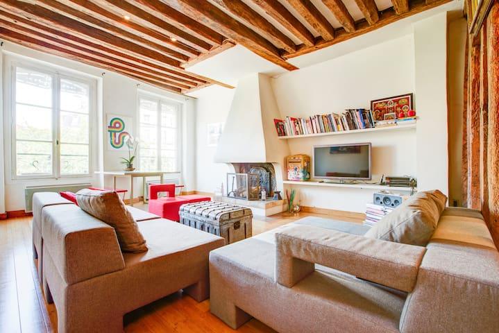Charming Loft @South Marais 100 sqm - París - Loft