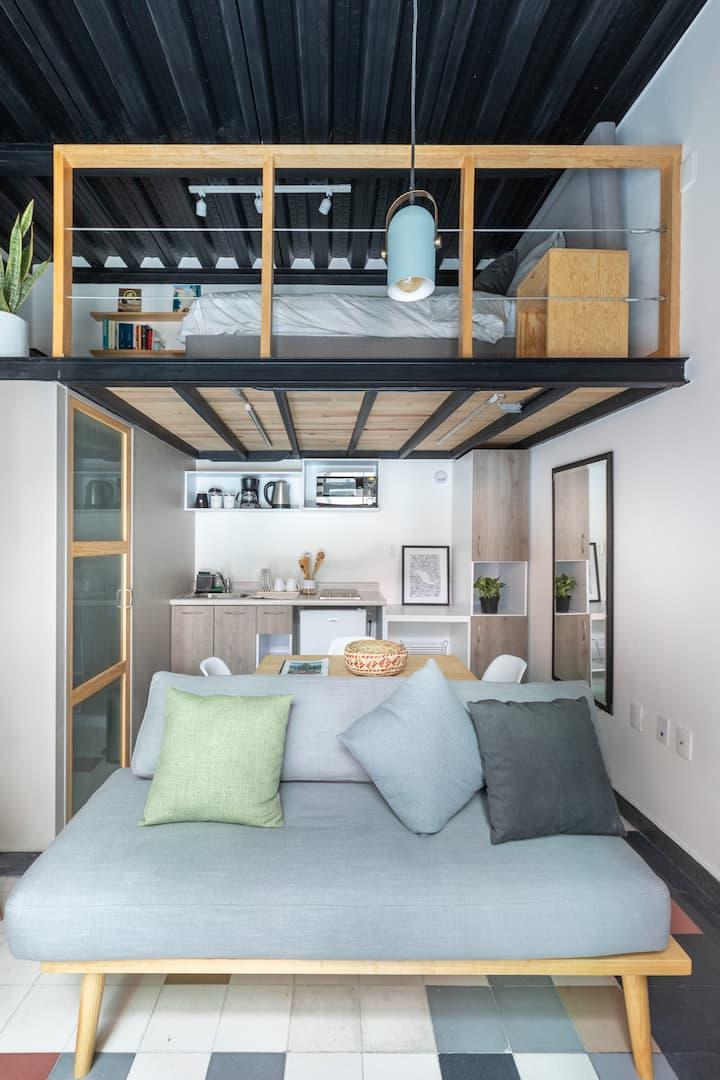 Loft compacto, excelente zona, cercano a Reforma