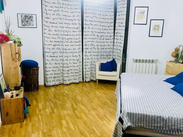 Double room in a yogic place - Atocha-Pte Vallecas