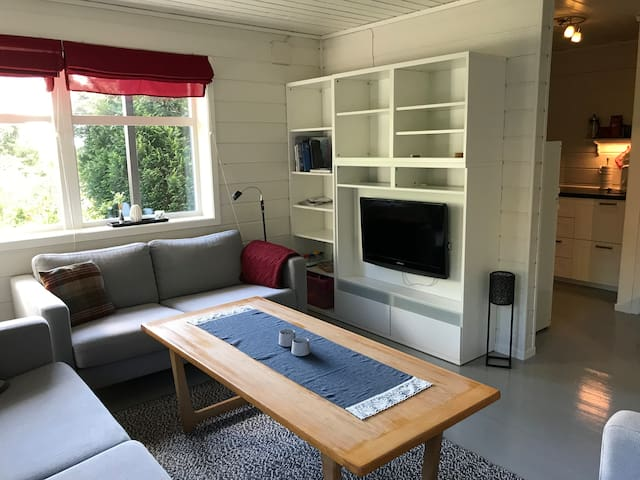 Koslig leilighet i Leirvik sentrum