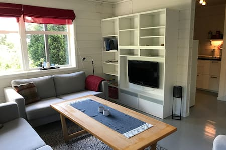 Koslig leilighet i Leirvik sentrum.