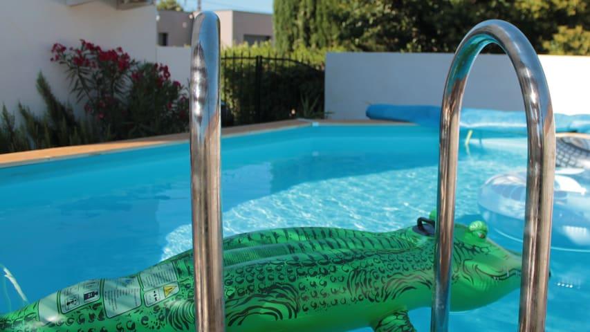 Maison famille climatisée piscine-20' Montpellier