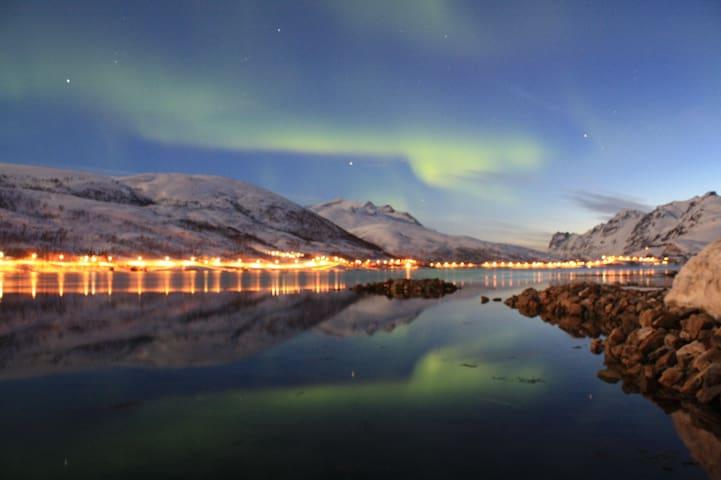 Kaldfjord, Kvaløya, Tromsø, northern lights,