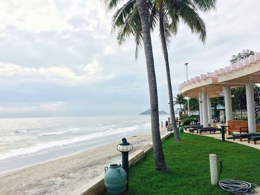 Beach front of baan san saran condo