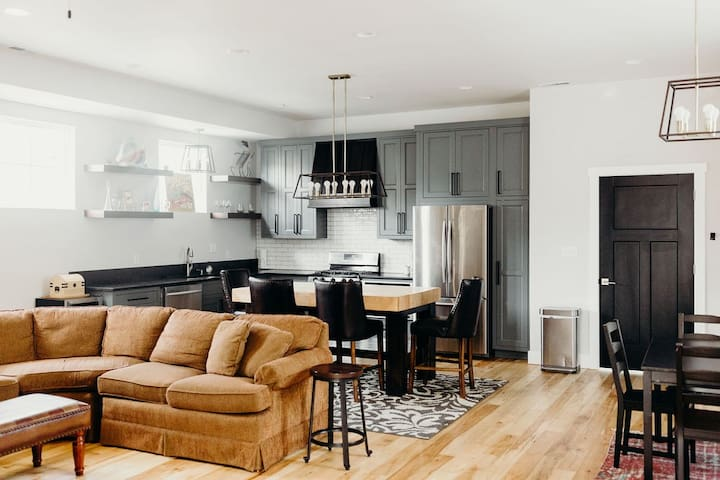 Open Concept Kitchen / Living Room
