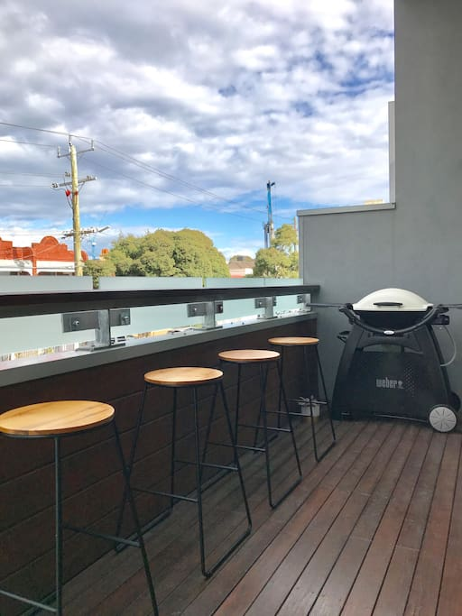 Outdoor balcony with BBQ
