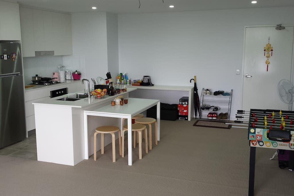 Dining area incorporated with kitchen will provide a favorable platform to show off your culinary skills