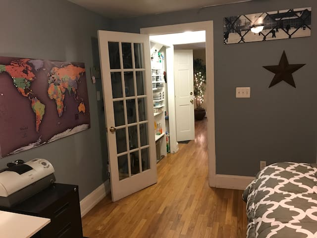 Bedroom (private) | Your private bedroom (with small hallway space leading to living room).