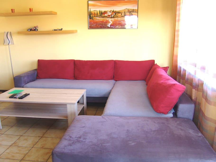 Wohnzimmer große Eck Couch