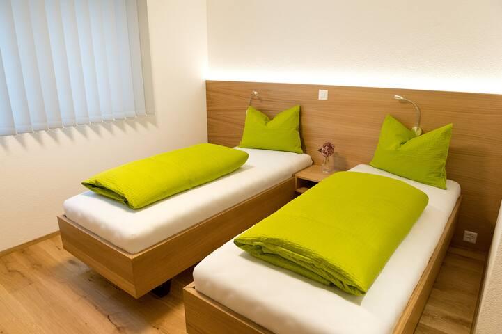 Zimmer Halde mit Einzelbetten