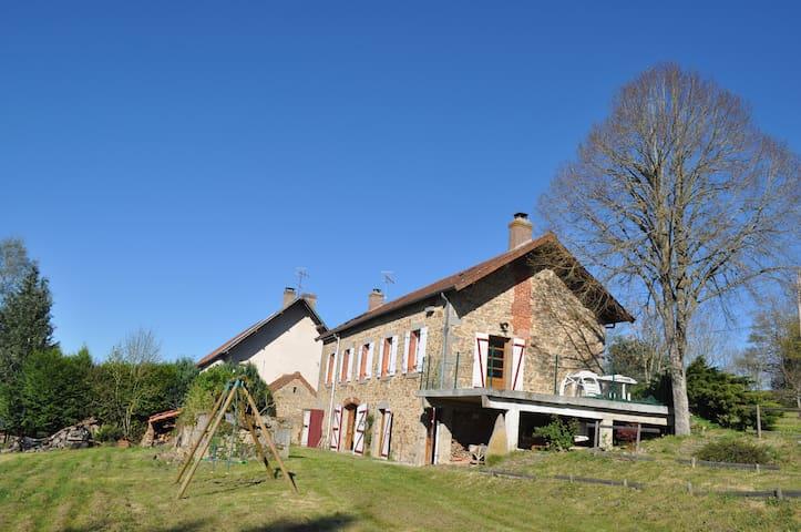 Maison creusoise indépendante, accessible PMR - Saint-Pardoux-les-Cards - Rumah