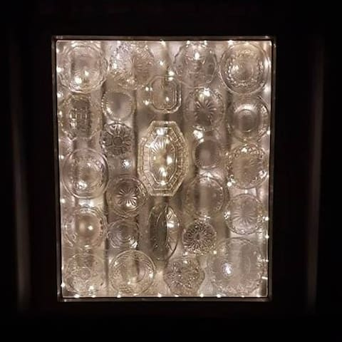 Solar lights for feature window at night