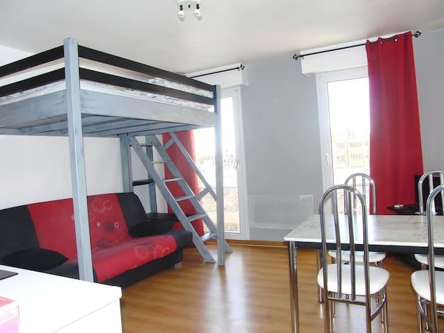 Studio meublé, dans résidence sécurisée - Calais - Apartment
