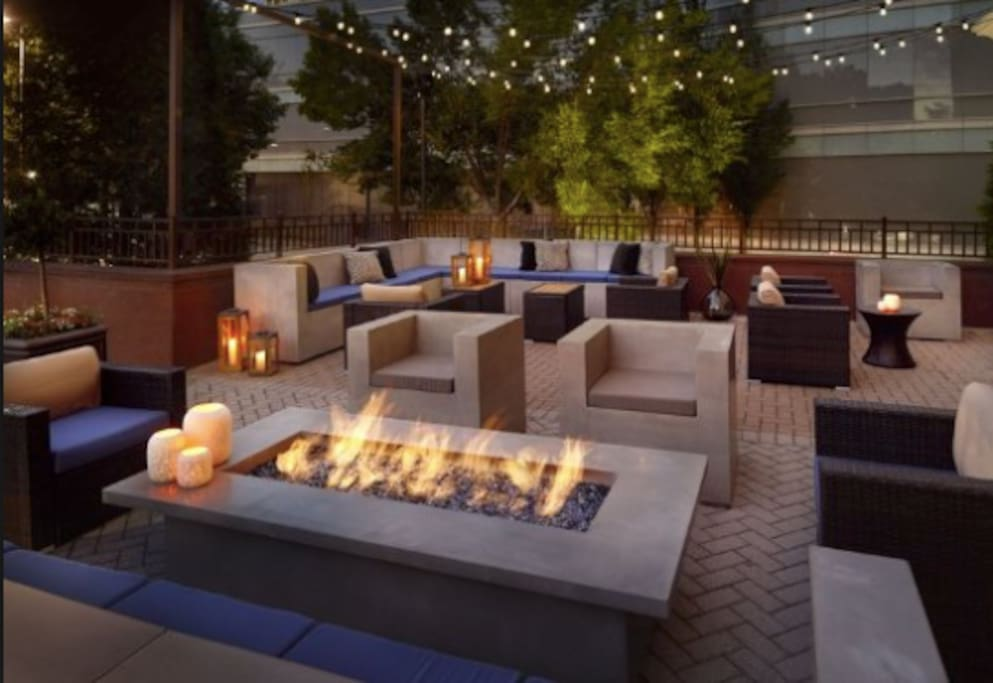 Firepit and grilling area (Located on the apartment Complex)