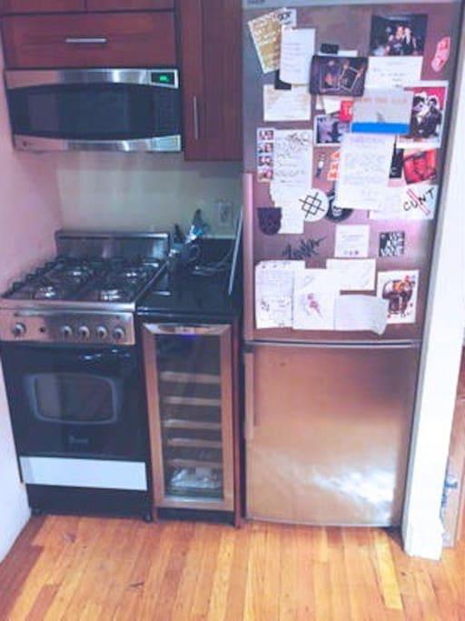 Modern kitchen plus wine fridge