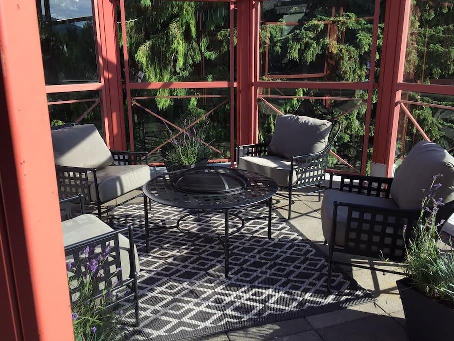 Comfortable seating and spacious living