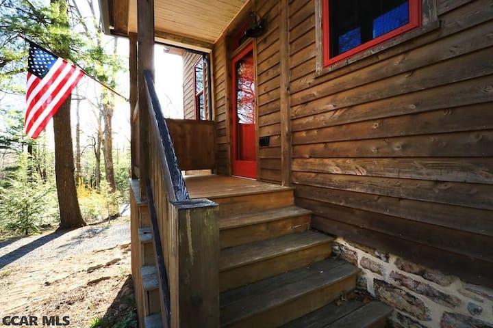 Front Porch showing original foundation