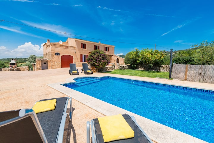 SES COMES Finca for 5 with Pool near Manacor