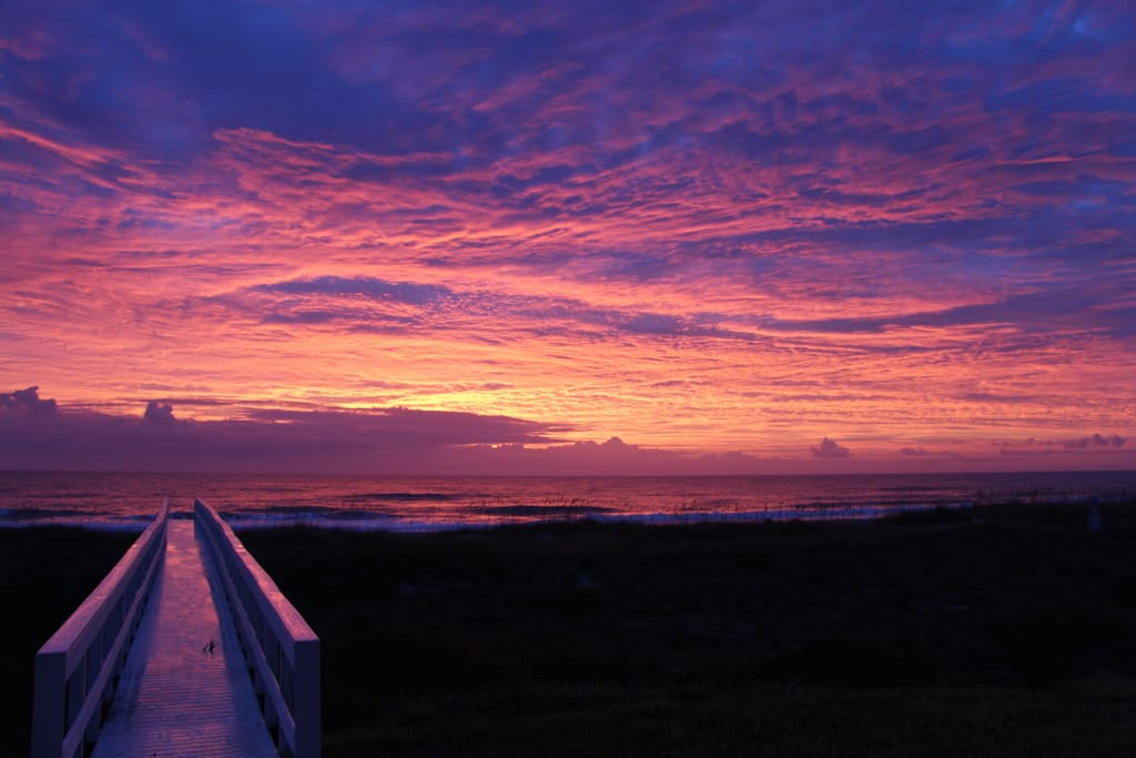 fire sky sunrise