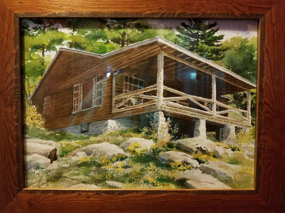An artist guest did this watercolor painting of Lone Pine Cottage awhile ago. He sat on a rock outside to do this. It looks remarkably like the photo I've included with my listing.