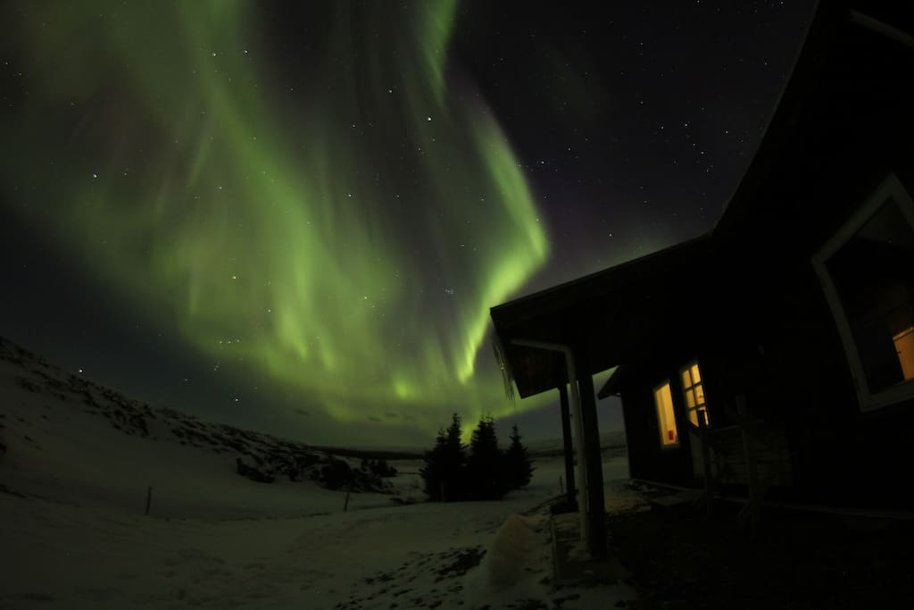 Northern lights in winter of 2017
