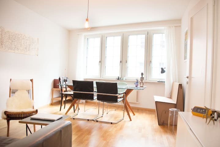 Nice Double-  and Livingroom during ART Basel - Basilea - Bed & Breakfast