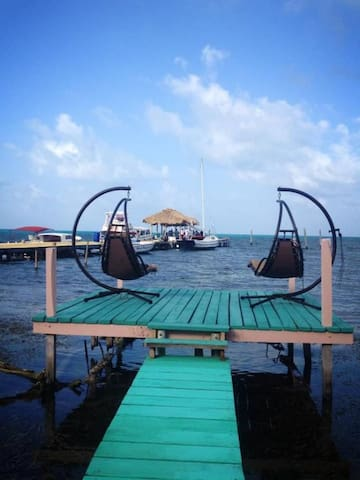 Private Belize Island Studio (Sea Wing 07): Easy Boat Ride to Blue Hole: We organize it all for you! - Belize - Pis