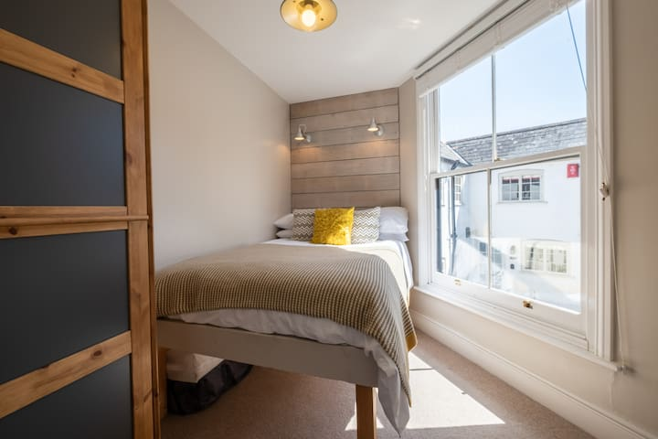 Bedroom 2 - with 4ft Double Bed, also extra deep Pocket Sprung mattress and quality High Thread Count linen