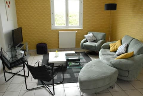 Entire villa, close to Dijon 3 bedrooms for 6 people