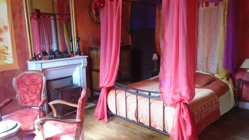 Chambre ethnique dans un manoir - Vallière - Casa