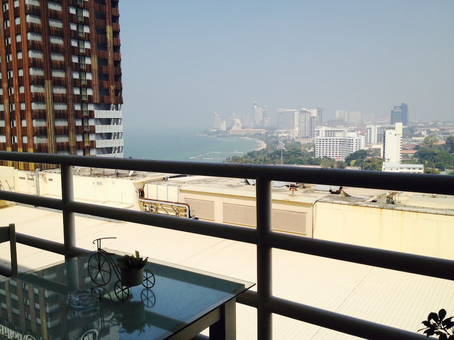 Balcony with View over North Pattaya.