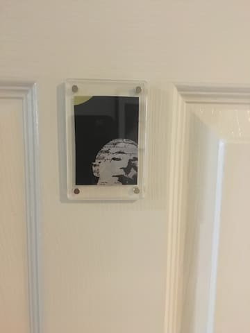 You can identify your room by this small picture on the door.  It matches the artwork over your bed.