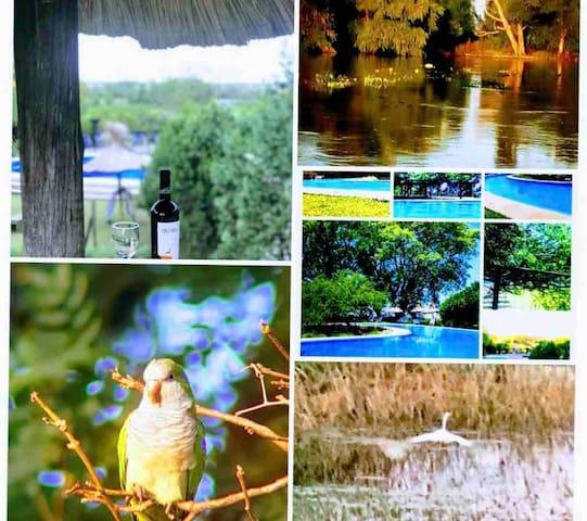 Apart Club.  Campo y río. Relax. Naturaleza.